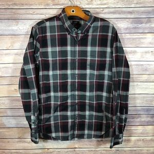 J. Crew Plaid Slim Fit Button Front